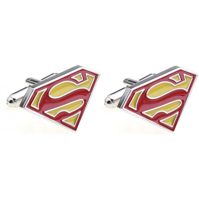 """Boutons de manchette """"superman"""""""